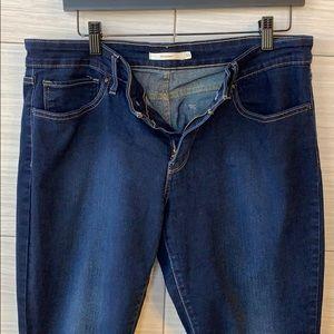 Levi's 711 skinny jeans stretch dark rinse womens